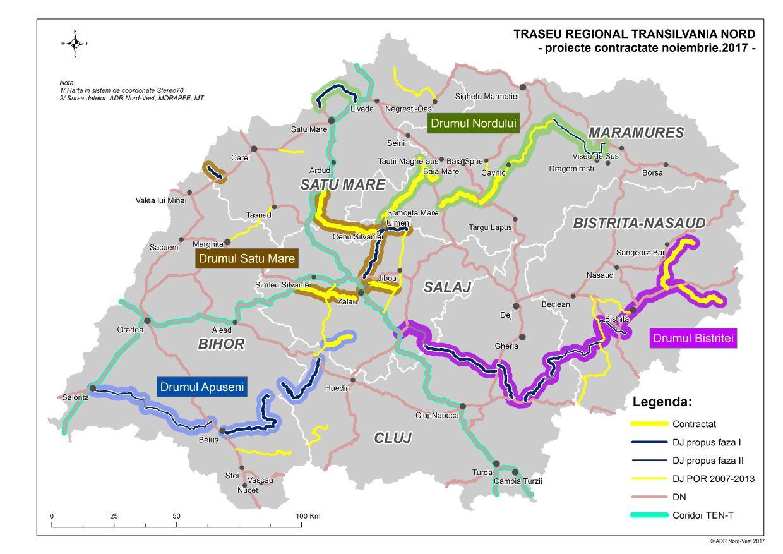 Harta De Perete Europa Rutiera 160x120 Cm Stiefel Romania