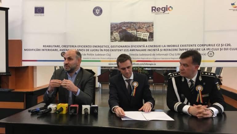 Sediile IPJ Cluj și DJI Cluj, mai eficiente energetic prin REGIO 2014-2020